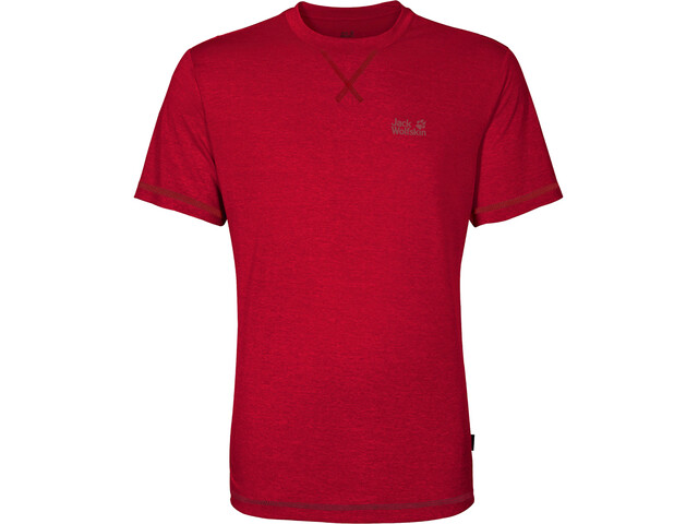 Jack Wolfskin Crosstrail T-Shirt Homme, ruby red